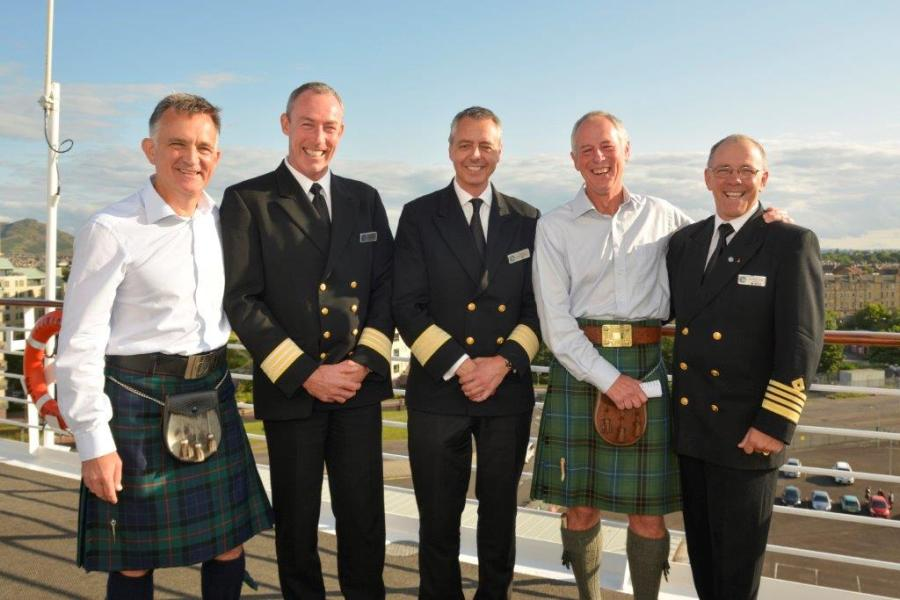 PerryGolf Co-Founder Colin Dalgleish (L) with Journey's Captain and First Mates
